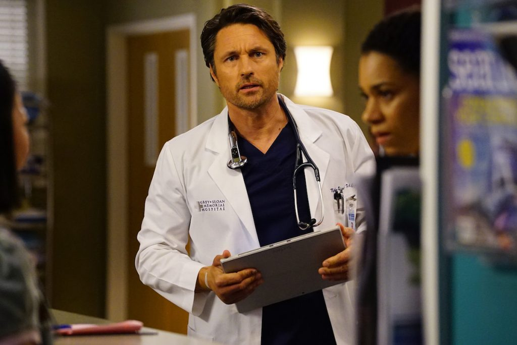 Martin Henderson looks shocked as Dr. Nathan Riggs on Greys Anatomy