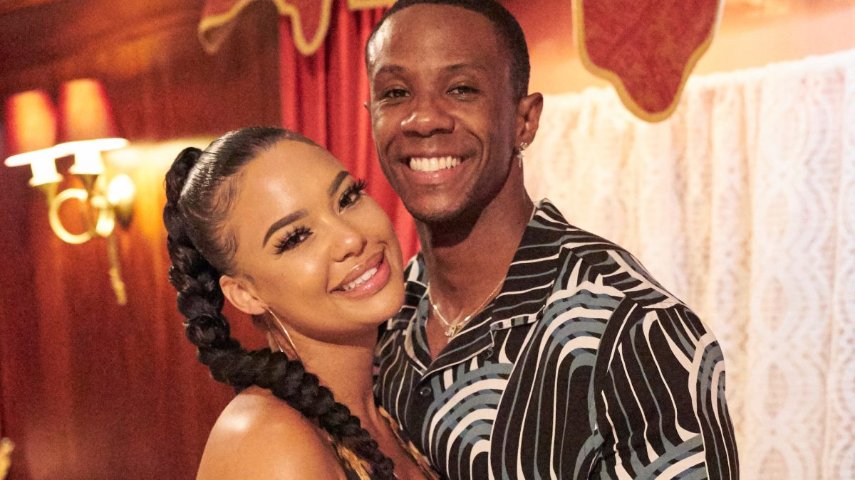 Maurissa Gunn and Riley Christian on their date together in 'Bachelor in Paradise' Season 7 in 2021