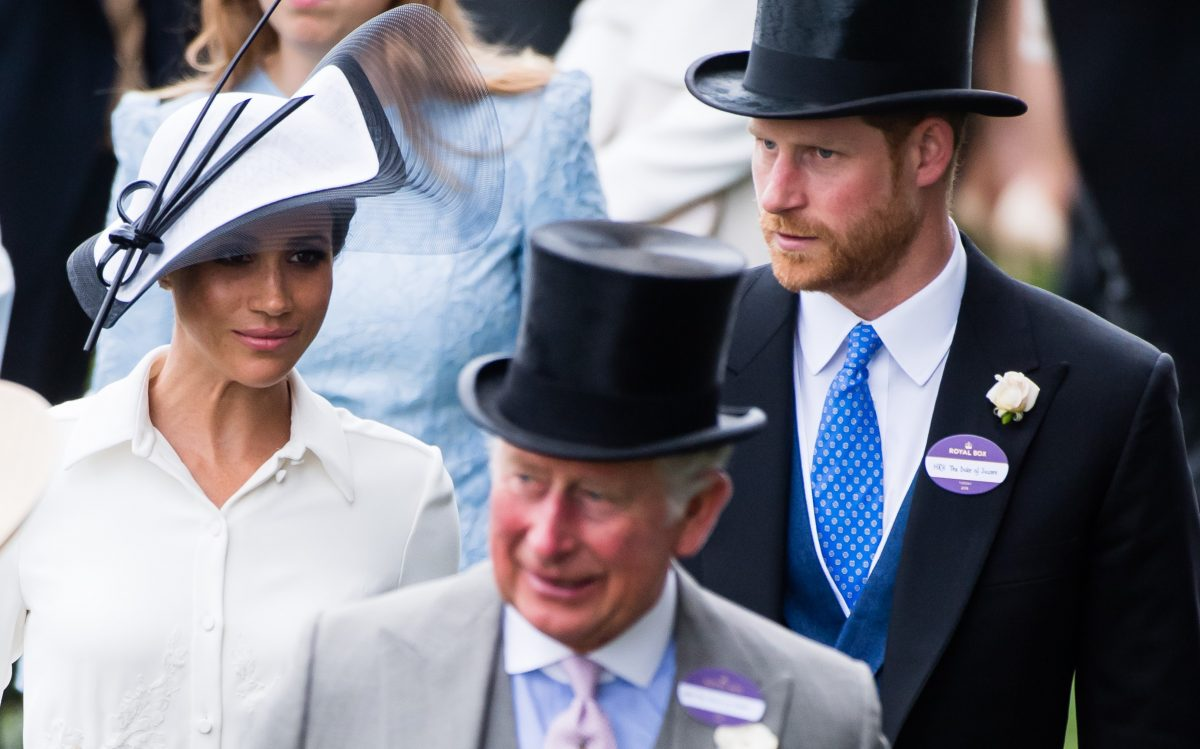 Meghan Markle, Prince Harry, and Prince Charles attending the Royal Ascot Day 1
