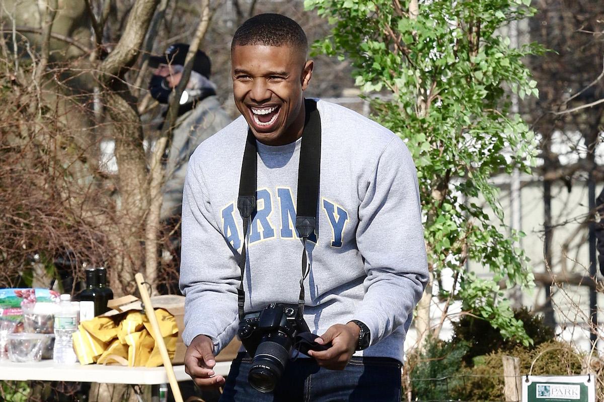 Michael B. Jordan with a camera
