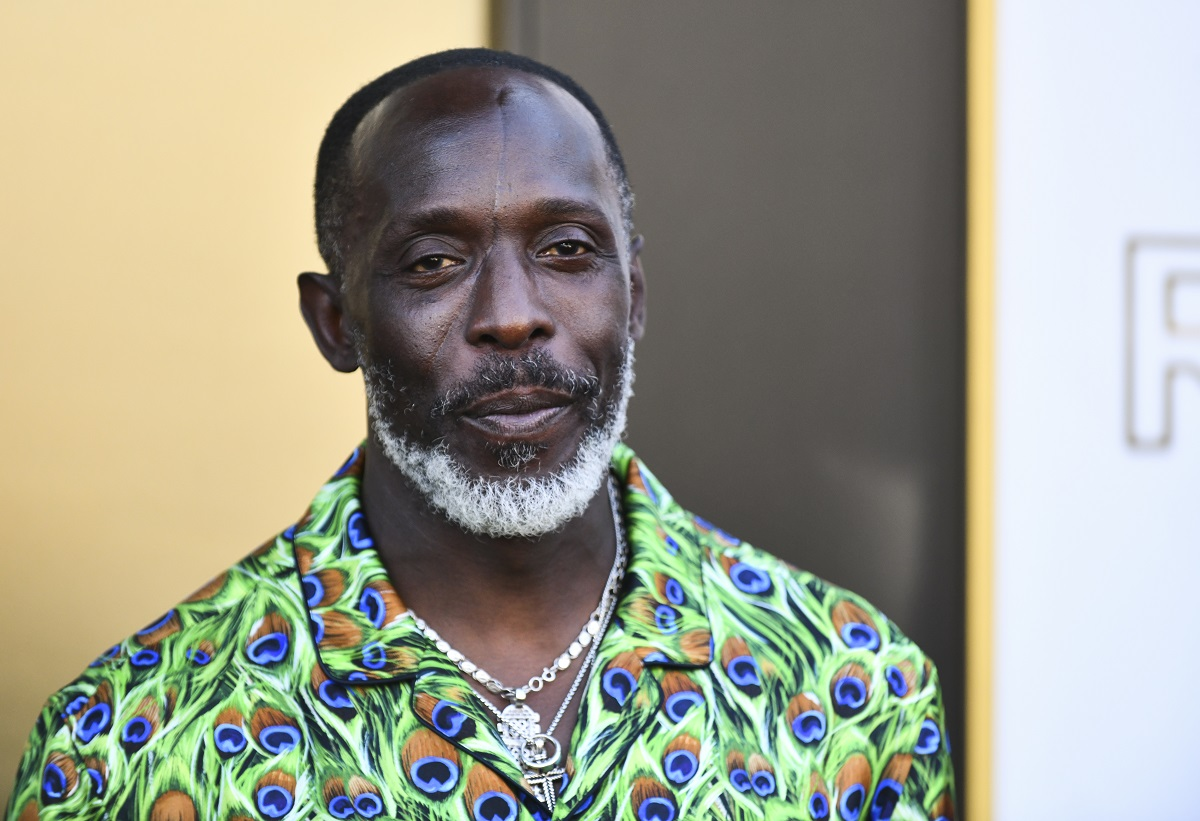 Michael K. Williams was a surprising upset at this year's awards after his 2021 Emmy nomination. He wears a green peacock shirt.