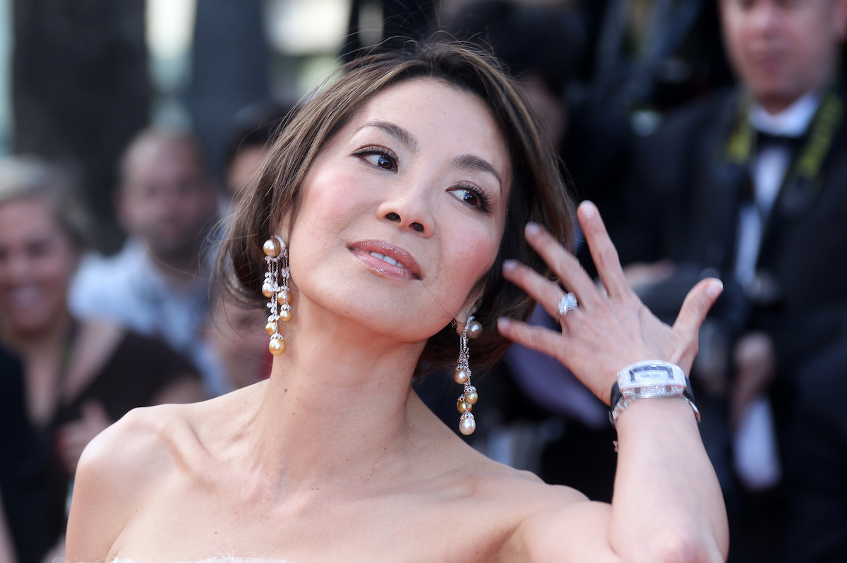 Michelle Yeoh bare shoulders