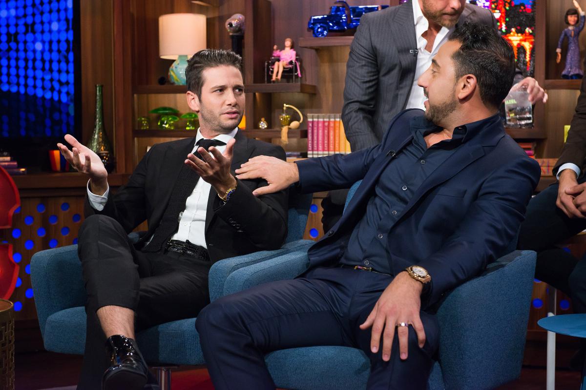 'Million Dollar Listing: Los Angeles' stars Josh Flagg and Josh Altman on 'Watch What Happens Live' on November 10, 2016