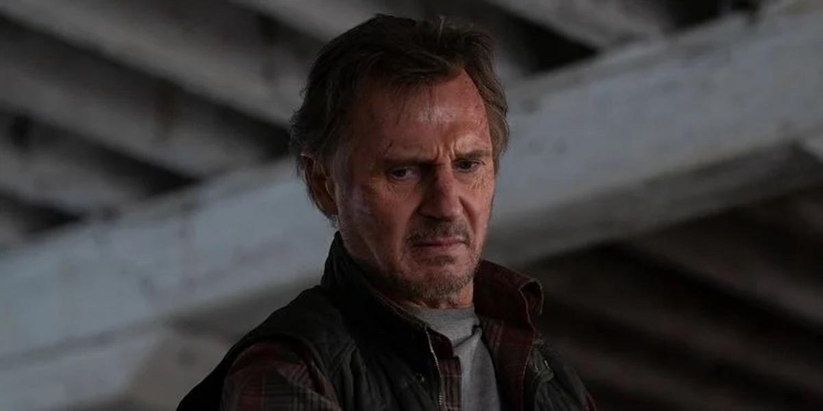 Liam Neeson on the set of 'Blacklight'