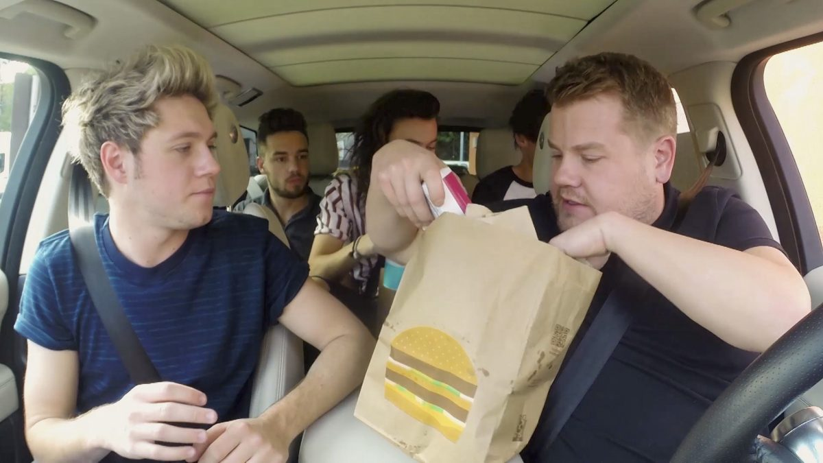 The award-winning boy band, One Direction, on 'THE LATE LATE SHOW WITH JAMES CORDEN'