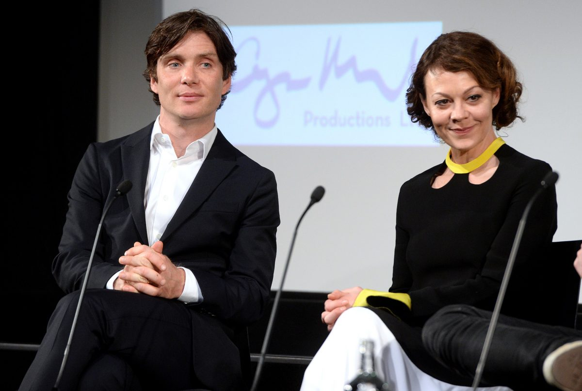 Cillian Murphy as Thomas Shelby and Helen McCrory as Polly Gray from 'Peaky Blinders' Season 6 sitting next to each other