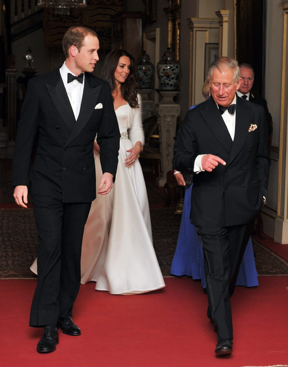 Prince William, Kate Middleton, and Prince Charles dressed formally as they leave Clarence House