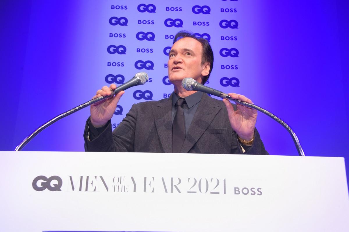 Quentin Tarantino Posing