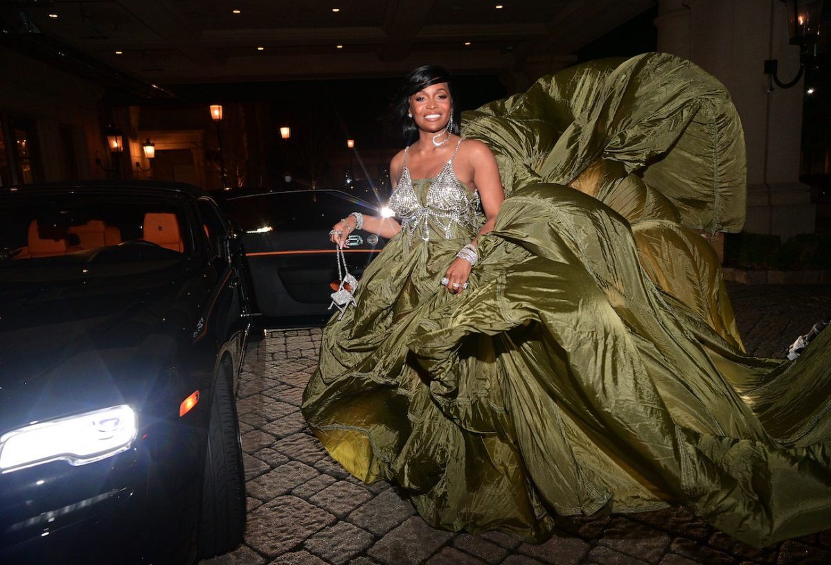 Marlo Hampton from RHOA is photographed at St Regis Hotel
