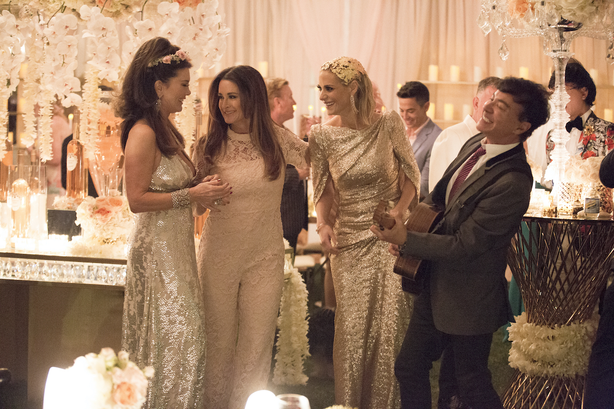The Real Housewives of Beverly Hills Lisa Vanderpump, Kyle Richards, and Dorit Kemsley at a party