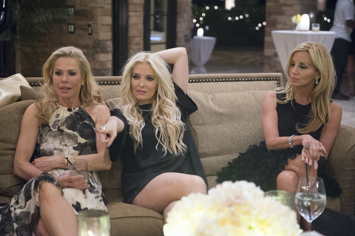 Kathryn Edwards, Erika Girardi, and Camille Grammer from The Real Housewives of Beverly Hills at a party