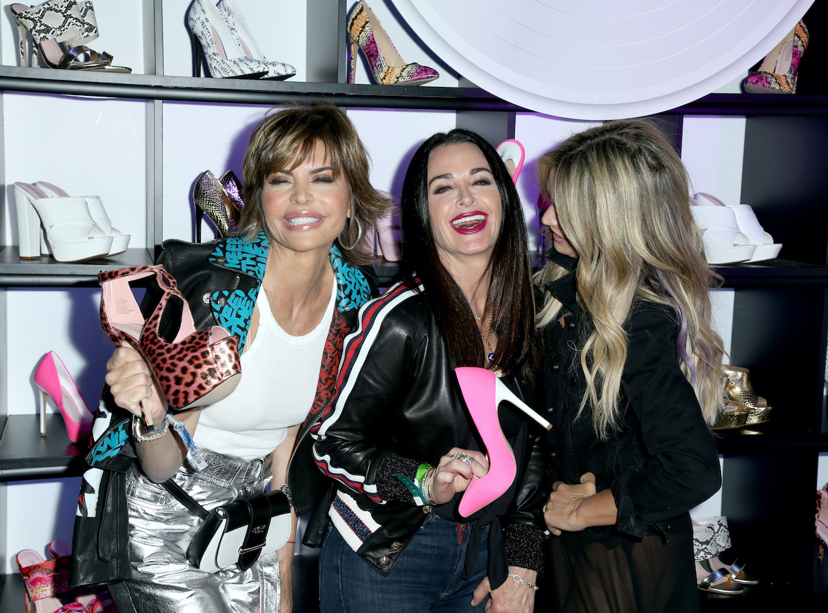 Lisa Rinna, Kyle Richards, and Teddi Mellencamp from The Real Housewives of Beverly Hills at Erika Jayne x ShoeDazzle event