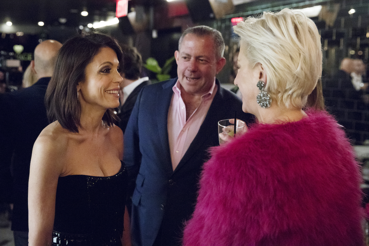 Bethenny Frankel, Harry Dubin, and Dorinda Medley from The Real Housewives of New York City chat a party