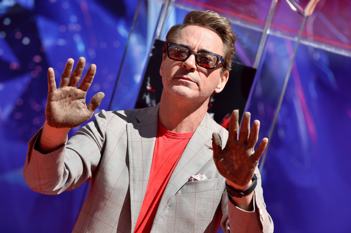 """Robert Downey Jr. at Marvel Studios' """"Avengers: Endgame"""" Cast Handprint Ceremony at TCL Chinese Theatre"""