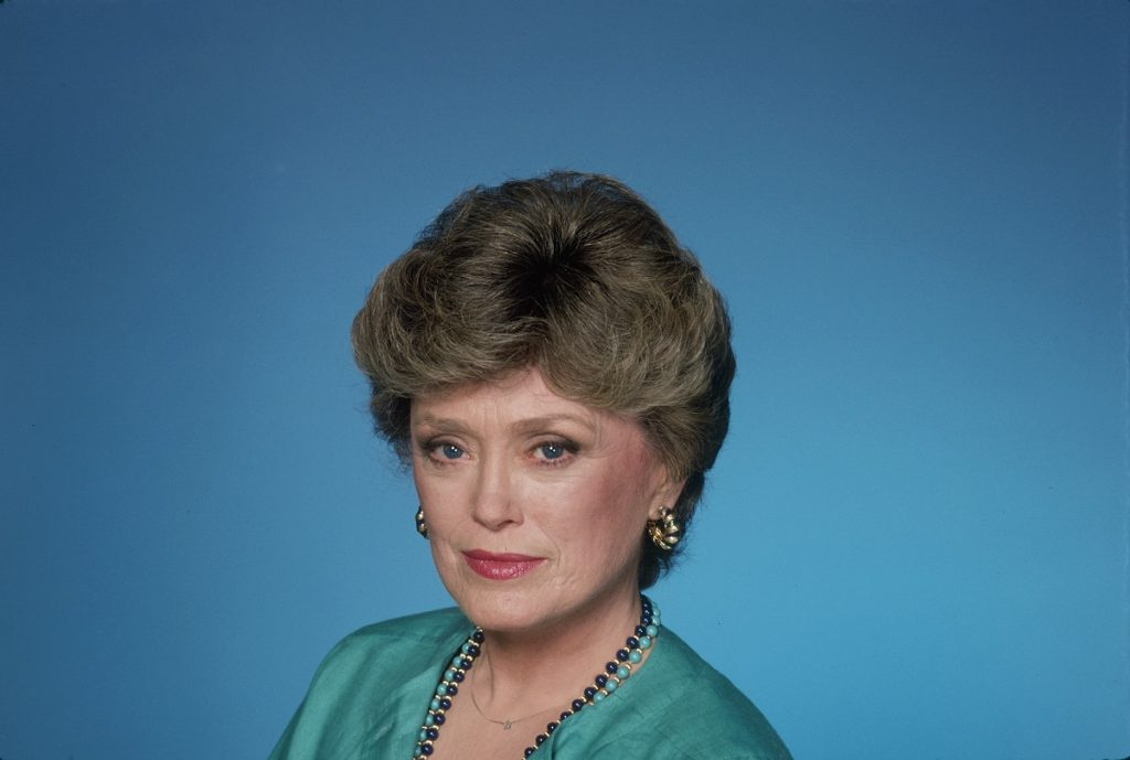 Actor Rue McClanahan as her character Blanche Devereaux in a promo photo for 'The Golden Girls.'