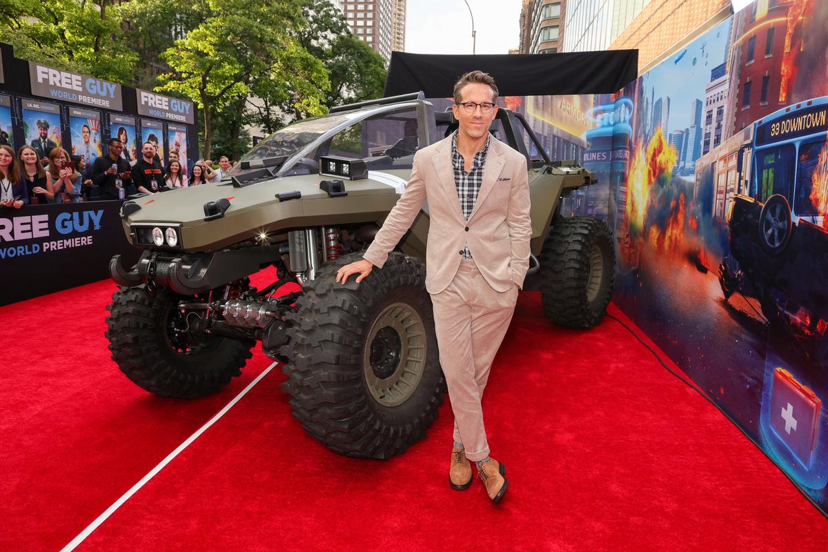 Ryan Reynolds at 'Free Guy' premiere