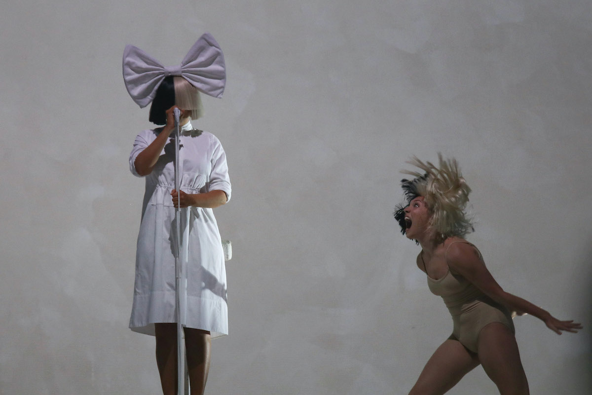 Sia and Maddie Ziegler perform on stage