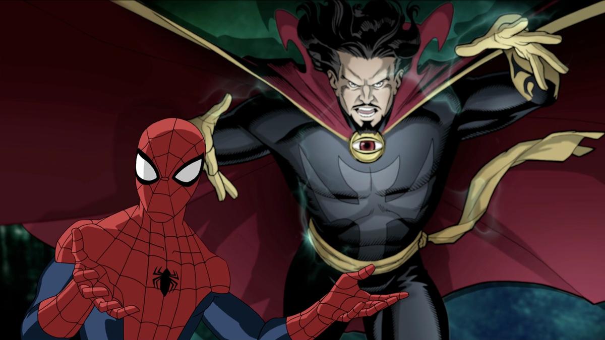 Spider-Man and Dr. Strange in Marvel's 'Ultimate Spider-Man'