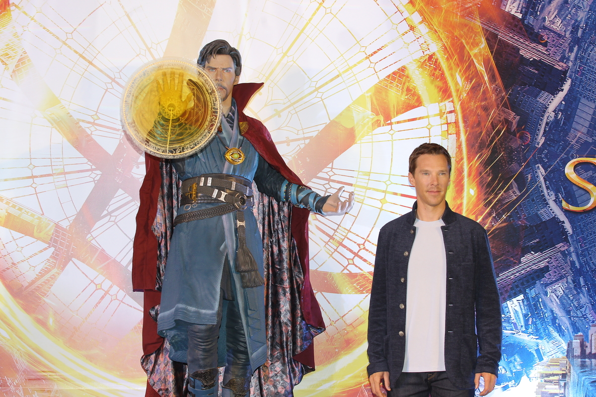 """Benedict Cumberbatch at press conference for """"Doctor Strange"""""""