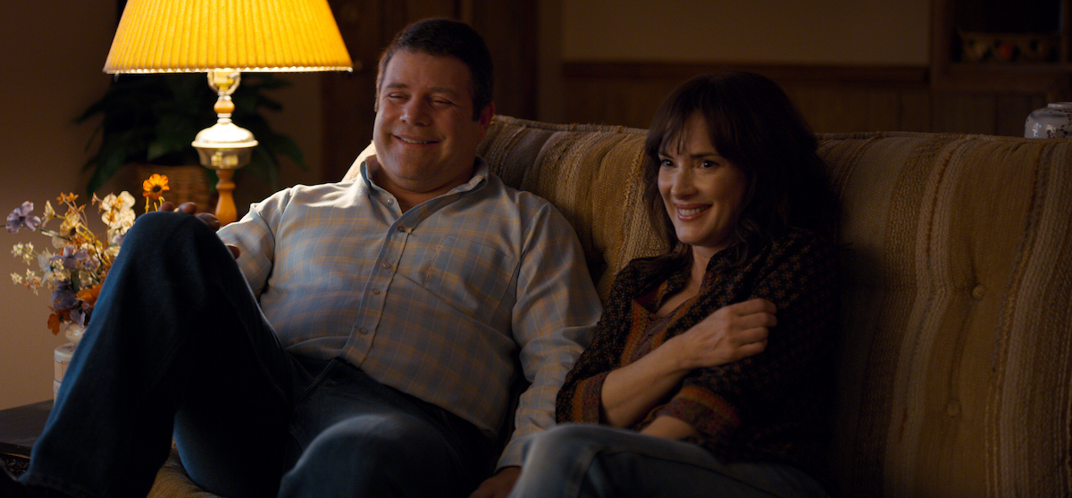 Sean Astin as Bob Newby in a scene with Winona Ryder from 'Stranger Things' Season 2.