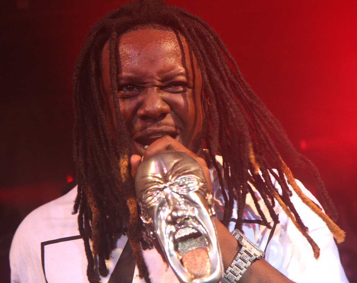 T-Pain wears a white shirt and a diamond watch while he performs at Hero - November 10, 2008 in New York City.