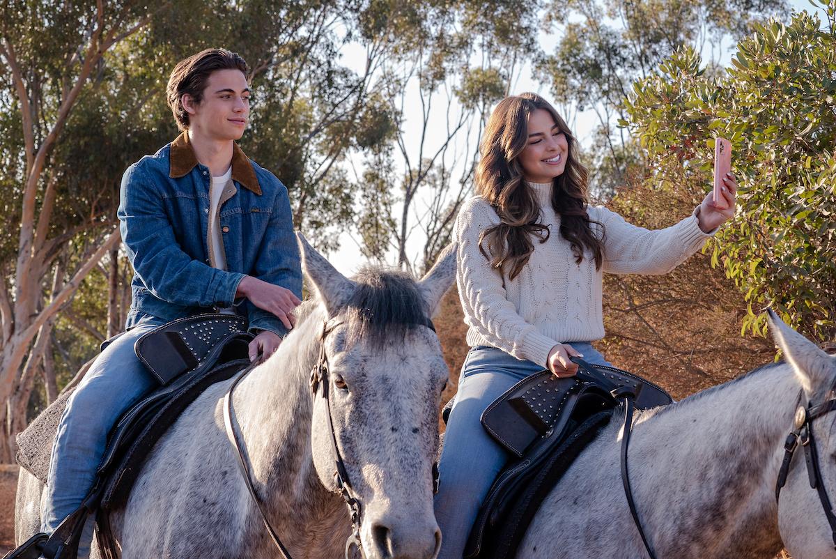 Tanner Buchanan rides horses with Addison Rae