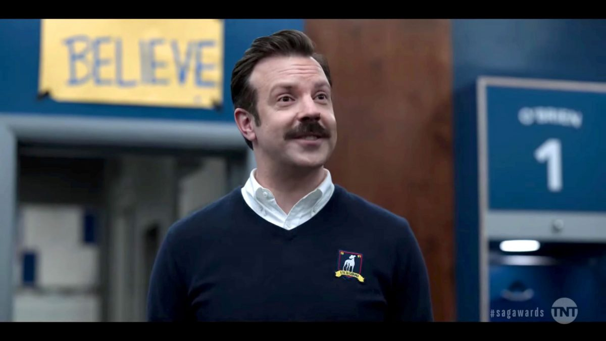 Jason Sudeikis as Ted Lasso on the Apple TV+ show 'Ted Lasso'