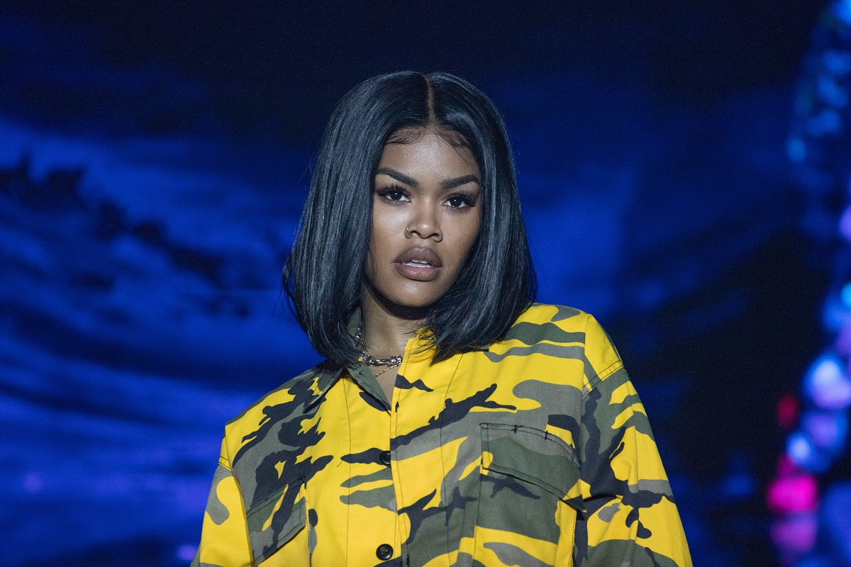 Teyana Taylor onstage performing 'Keep the Promise' at World AIDS Day Concert