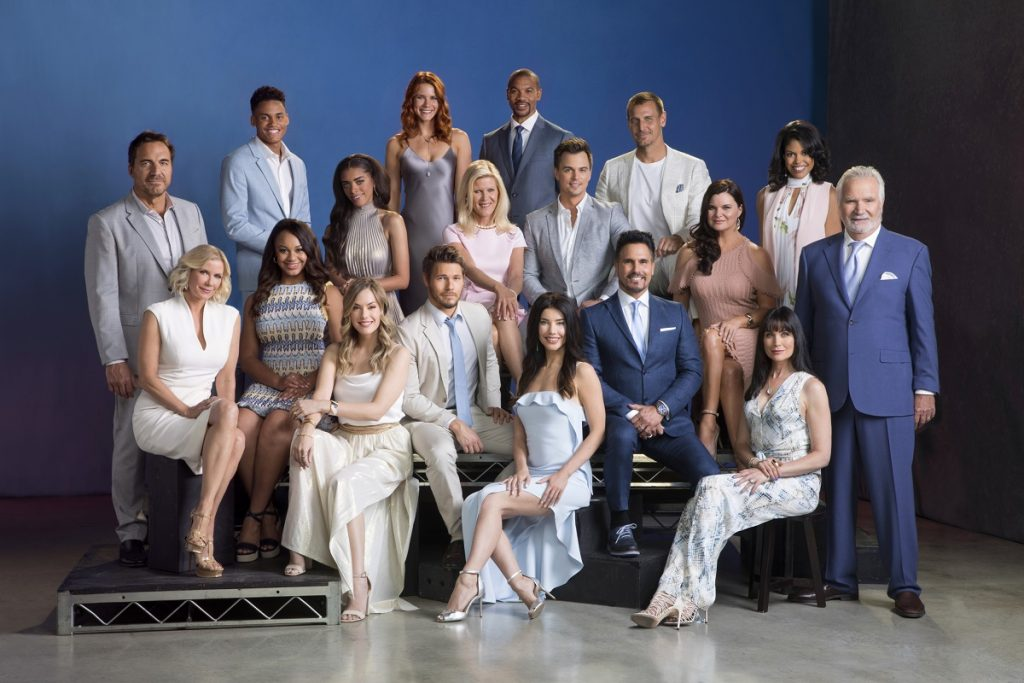The cast of 'The Bold and the Beautiful' pose an official 2018 cast photo.