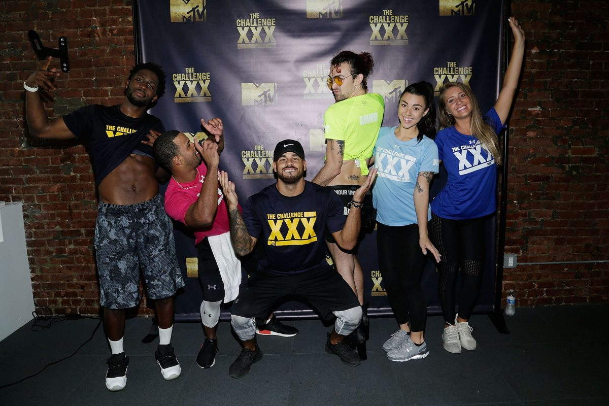 Players from MTV's 'The Challenge' Season 37 posing at 'The Challenge' XXX: Ultimate Fan Experience