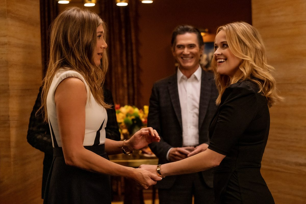 The Morning Show stars Jennifer Aniston, Billy Crudup and Reese Witherspoon acting in season 2