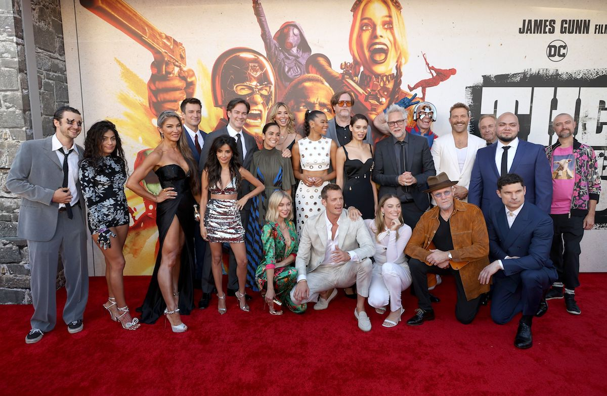 Cast and crew of 'The Suicide Squad' at the Warner Bros. premiere of the film