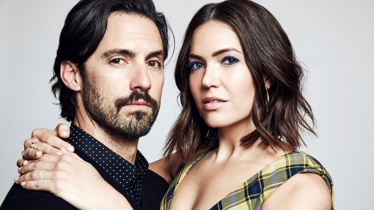 Headshots of Milo Ventimiglia (Jack Pearson) and Mandy Moore (Rebecca Pearson) from 'This Is Us' in 2019