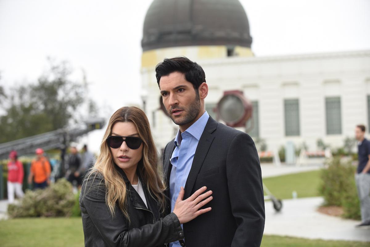 Lauren German and Tom Ellis in 'Lucifer'