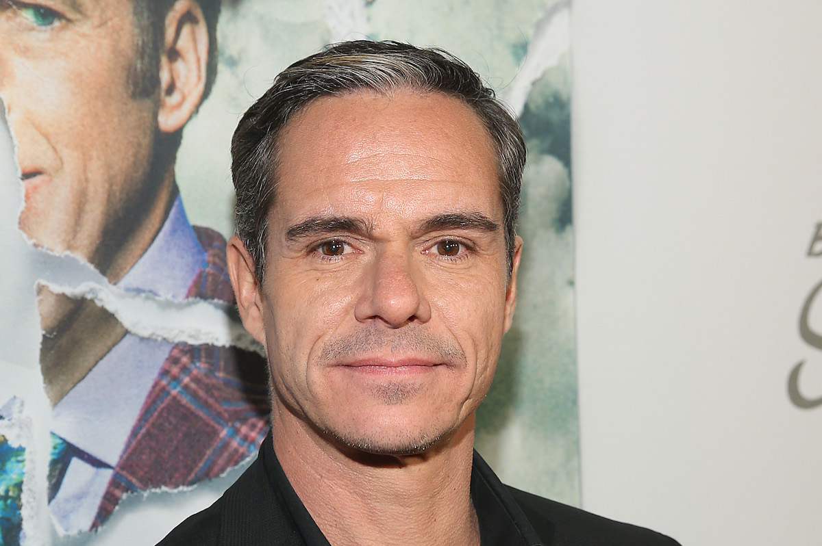 Tony Dalton wears a black outfit to an event for the AMC series 'Better Call Saul,' on which he plays Lalo Salamanca