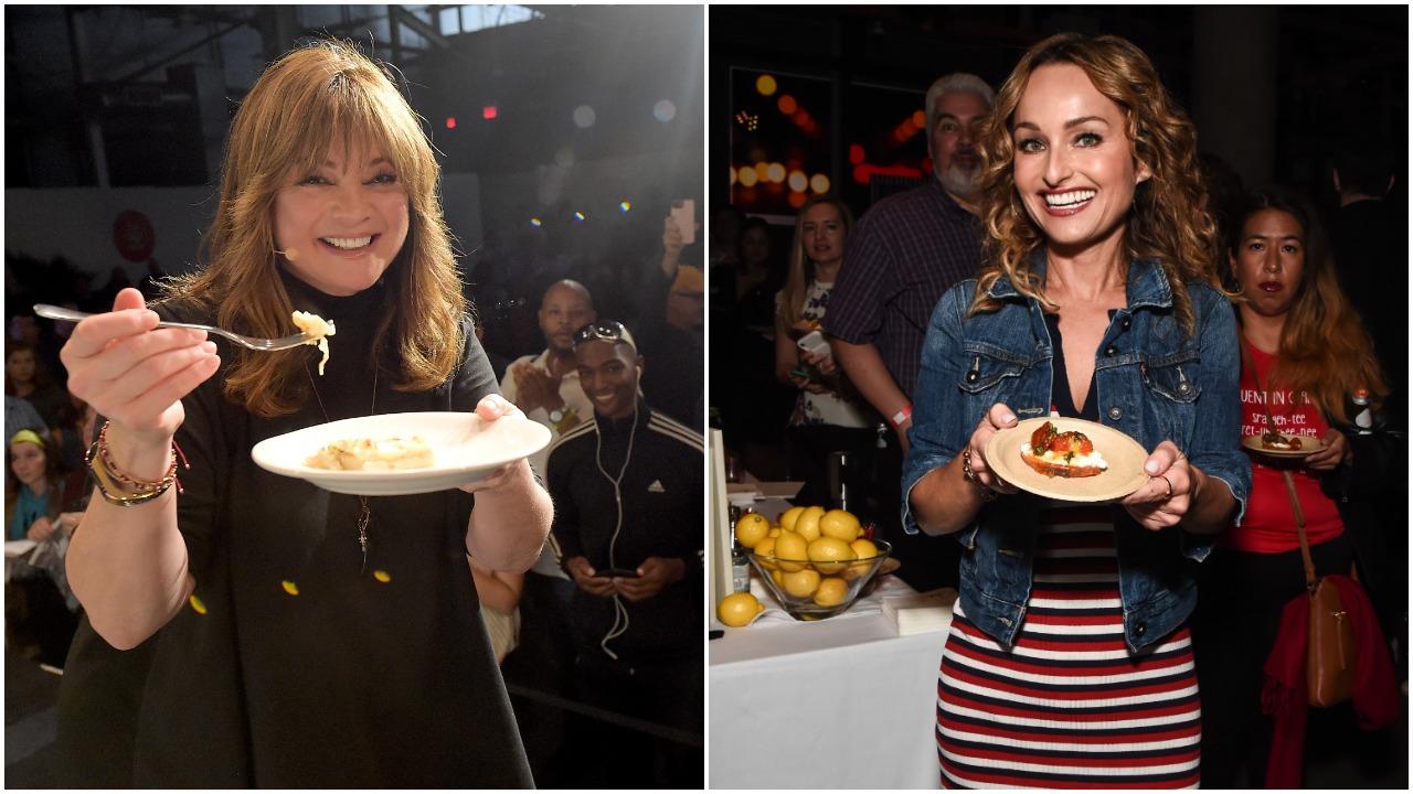Left to right: Food Network stars Valerie Bertinelli and Giada De Laurentiis