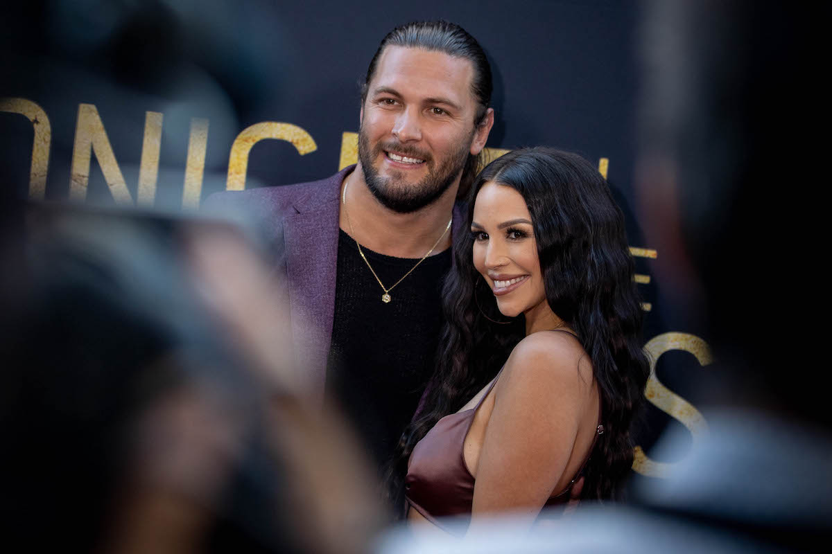 Brock Davies and Scheana Shay from Vanderpump Rules attend a red carpet event