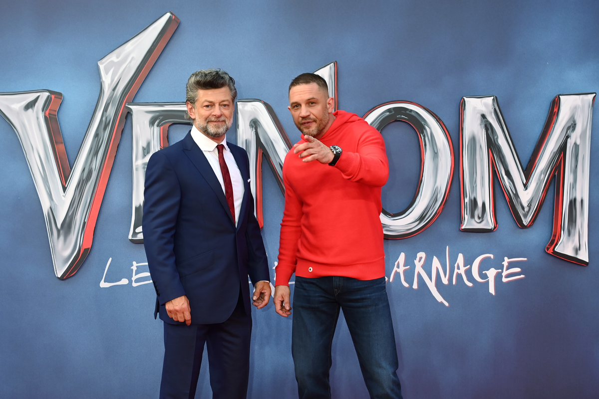 """Tom Hardy and Andy Serkis attend """"Venom: let there be carnage"""" To throw"""