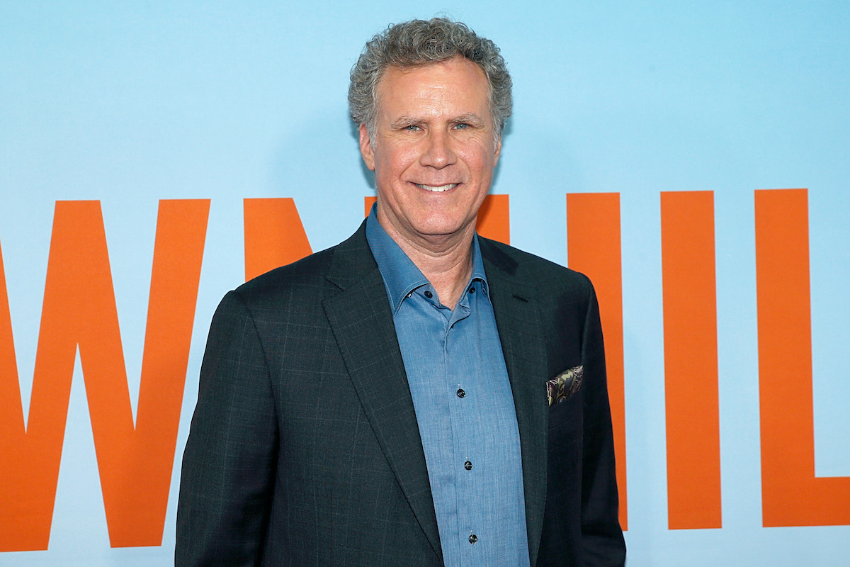 Will Ferrell on the red carpet in a suit