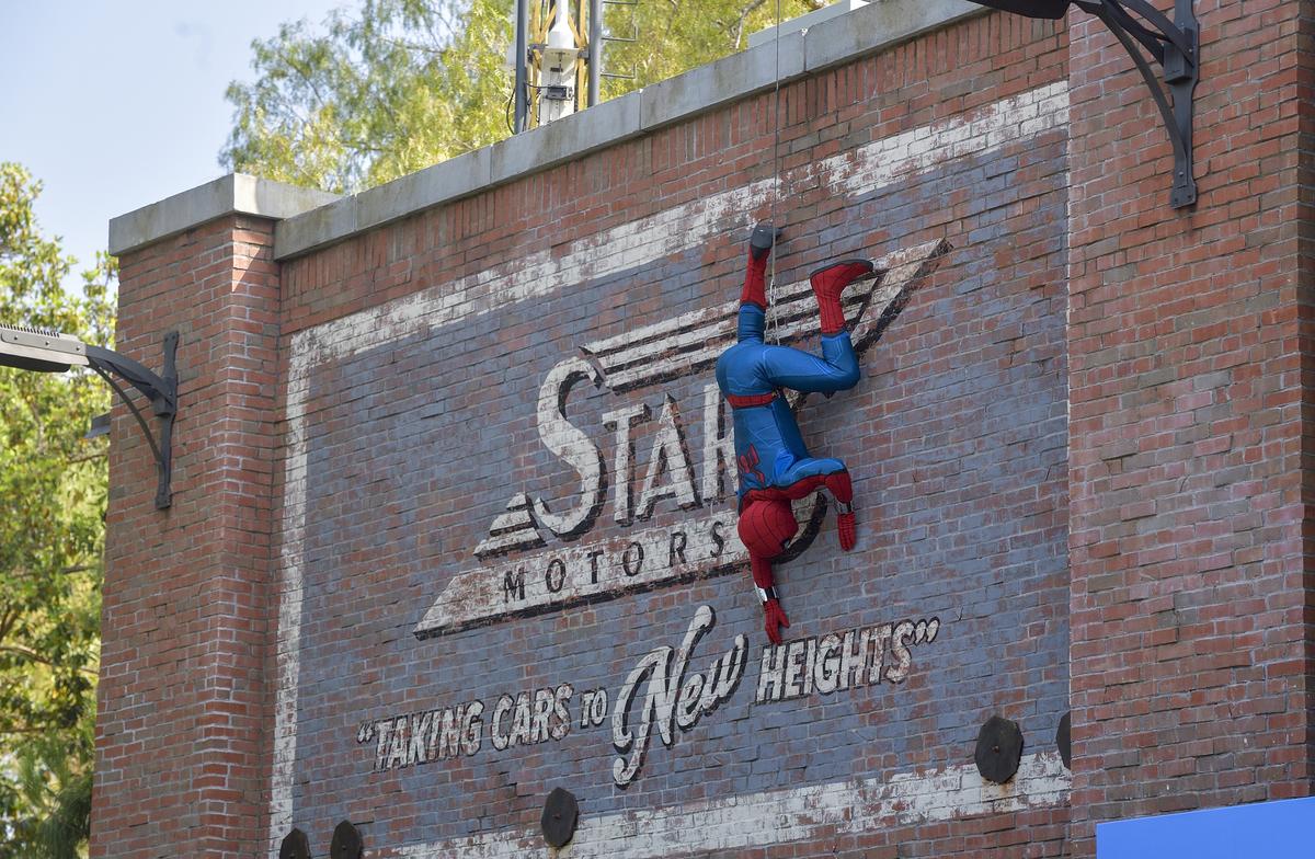 Spider-Man at Web Slingers: A Spider-Man Adventure in Disneyland