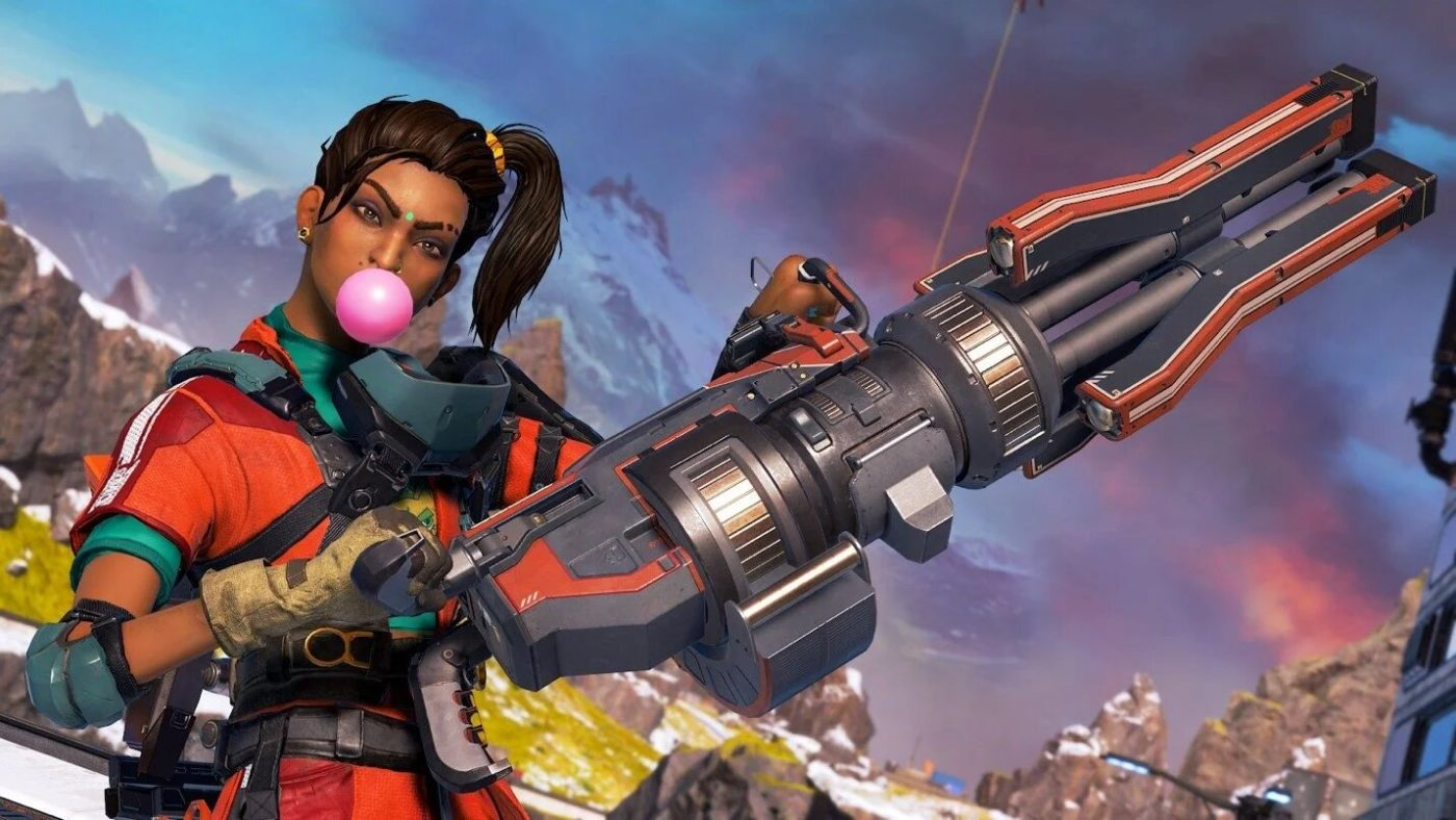 'Apex Legends' character Rampart could be seeing a town takeover soon -- Rampart poses with Sheila while blowing bubblegum