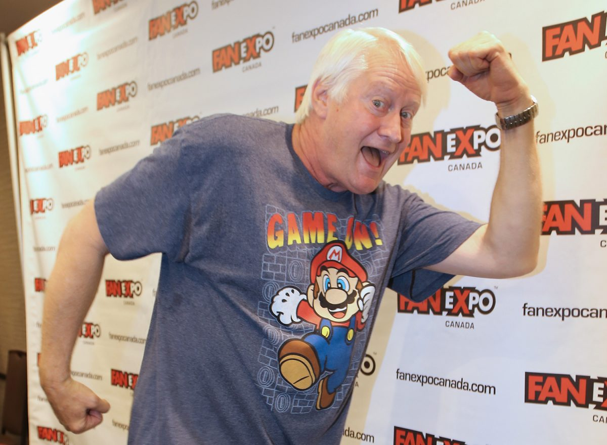 Mario voice actor Charles Martinet at Fan Expo Canada in 2016