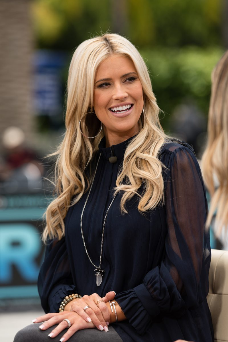 Christina Haack smiles during an interview for 'Extra' in 2019