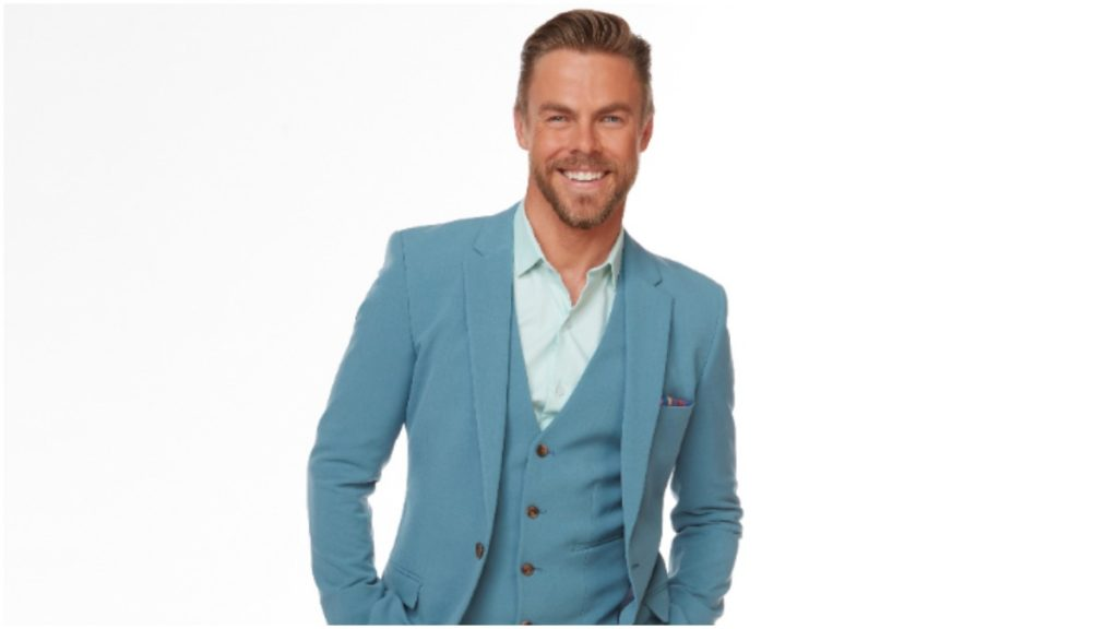 Derek Hough smiles for the camera in an ABC publicity photo.