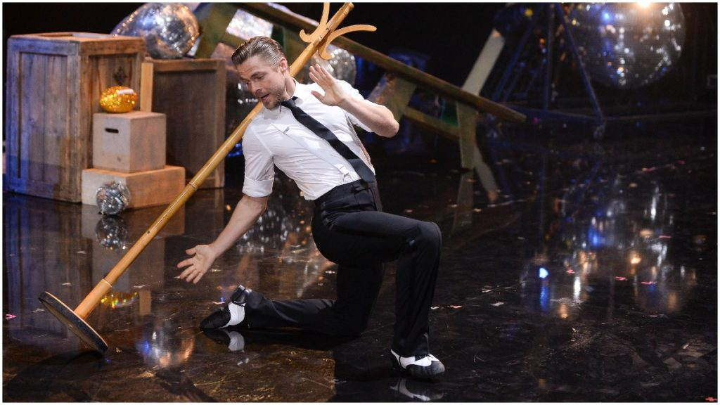 Derek Hough performs in a Dancing With the Stars routine.