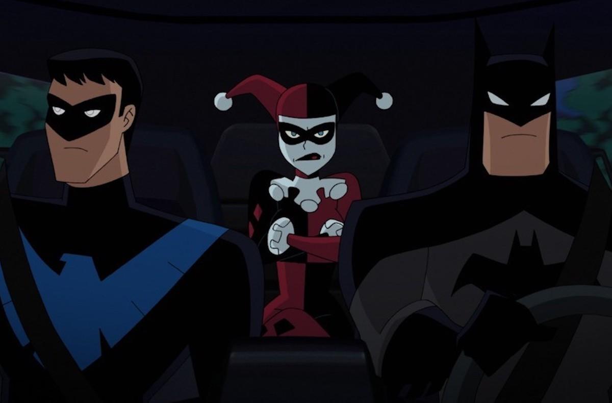 Nightwing, Harley Quinn, and Batman in 'Batman and Harley Quinn'
