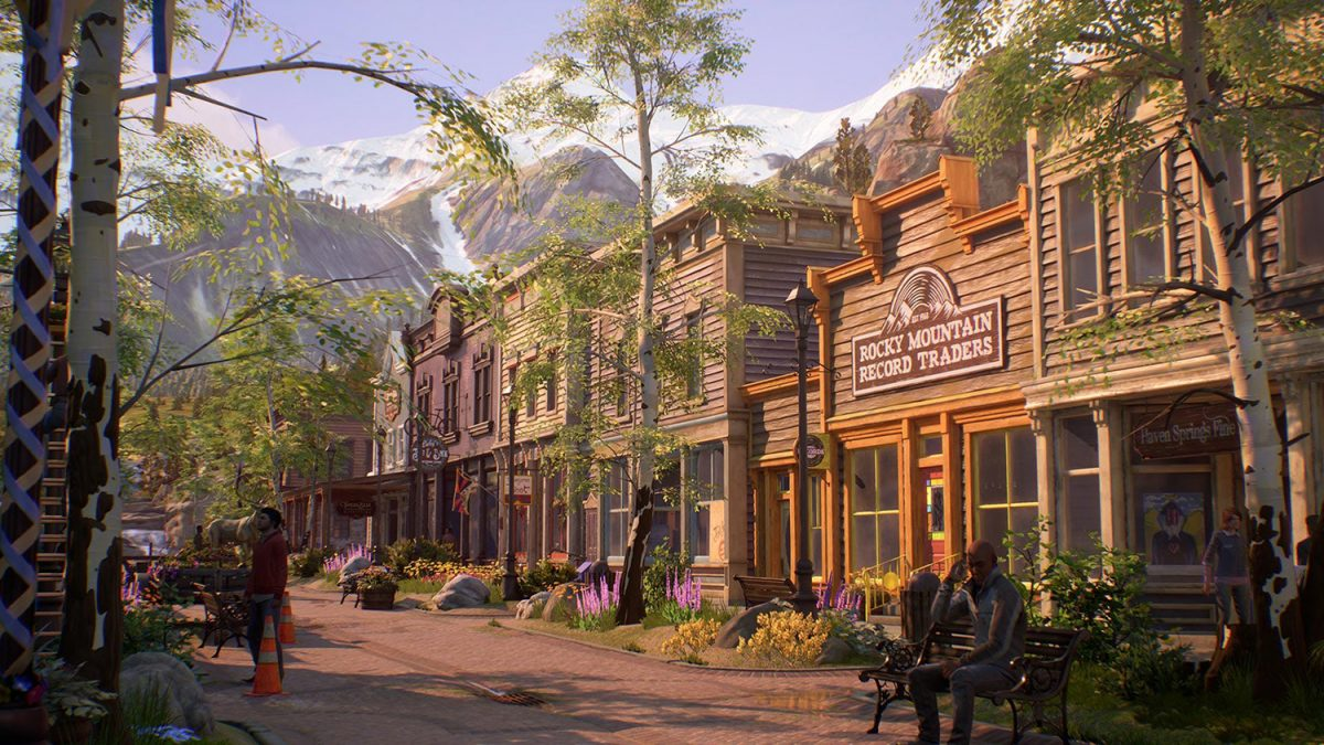 A view of Main Street in Haven Springs, Colorado, from Life is Strange: True Colors