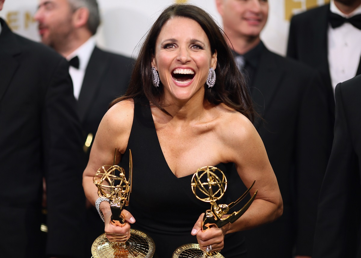 'Seinfeld' star Julia Louis-Dreyfus, winner of the awards for Outstanding Lead Actress in a Comedy Series for 'Veep' and Outstanding Comedy Series for 'Veep'
