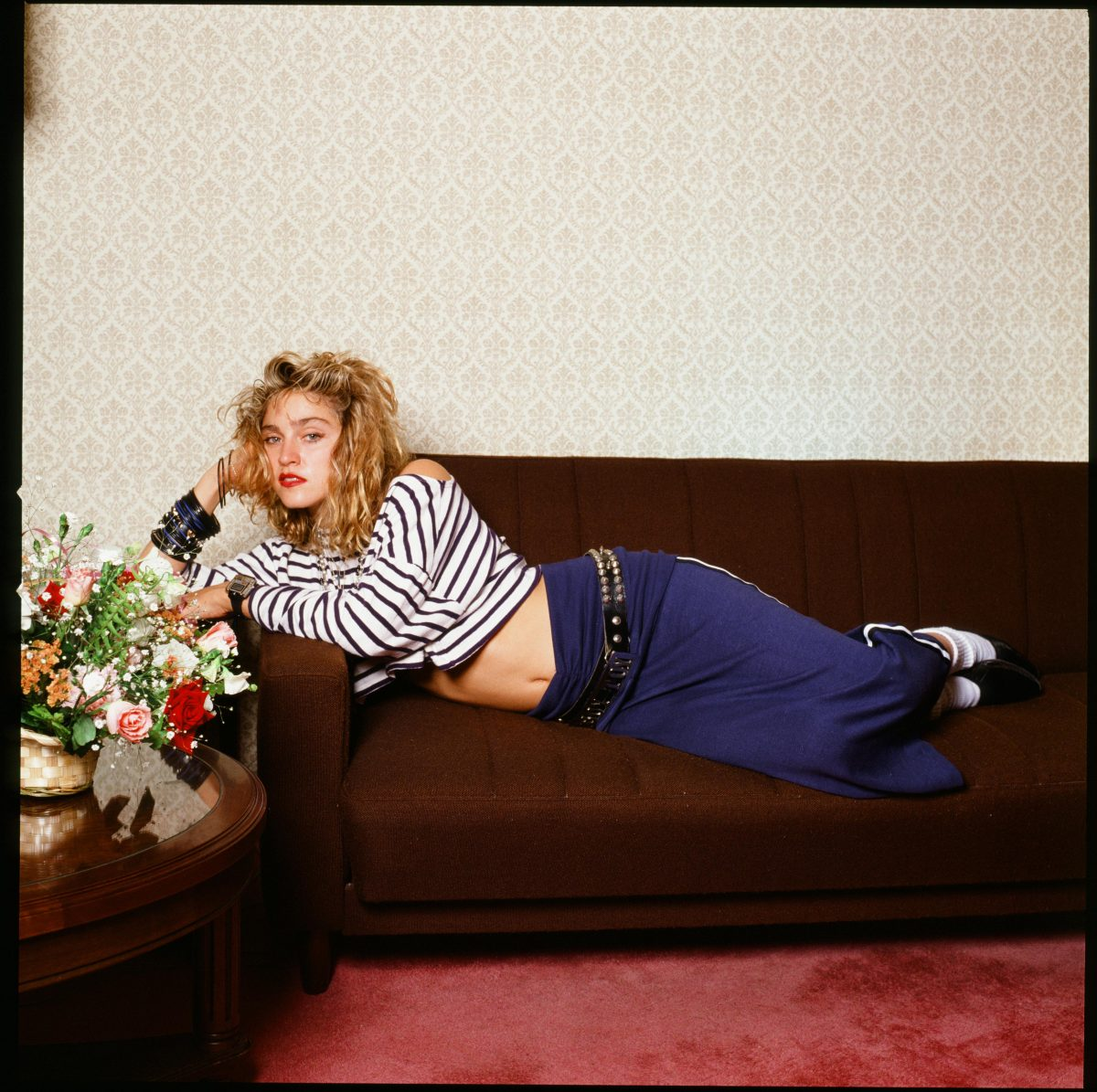 Madonna on a couch