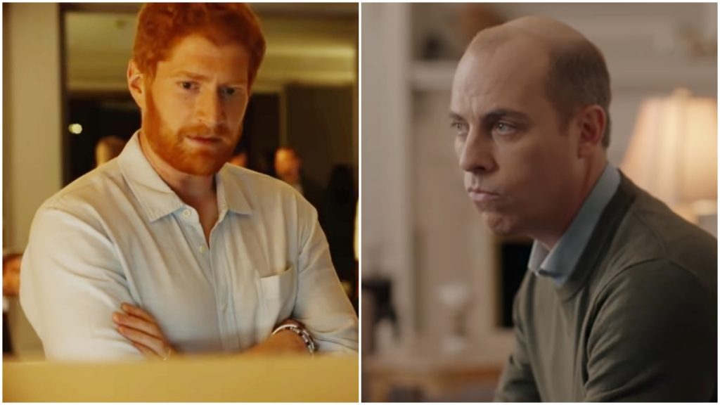 """Prince Harry and Prince William battle in the television movie """"Meghan and Harry: Escaping the Palace."""""""